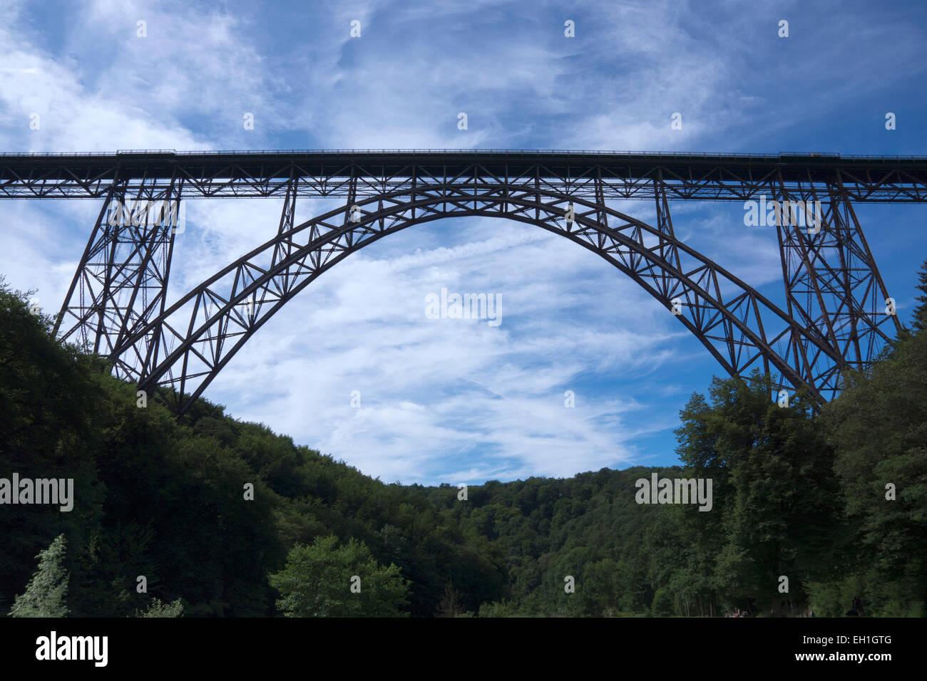 müngsten bridge, north rhine-westphalia, germany, europe - Stock Image