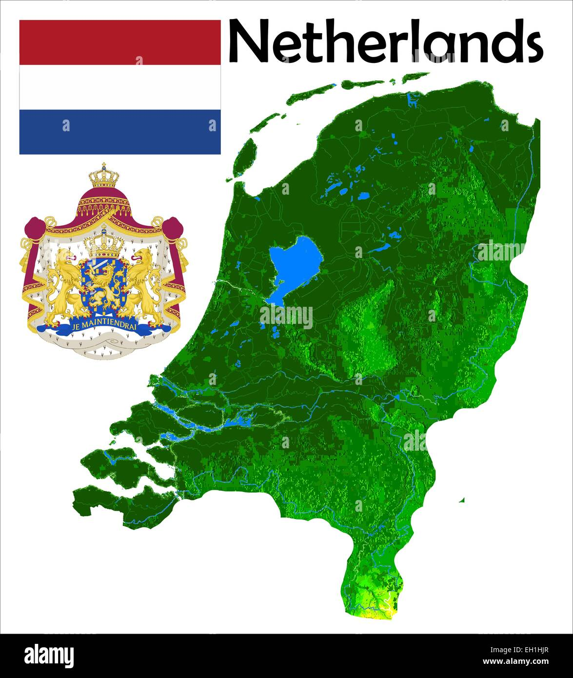 Map Of Netherlands Stock Photos & Map Of Netherlands Stock Images ...