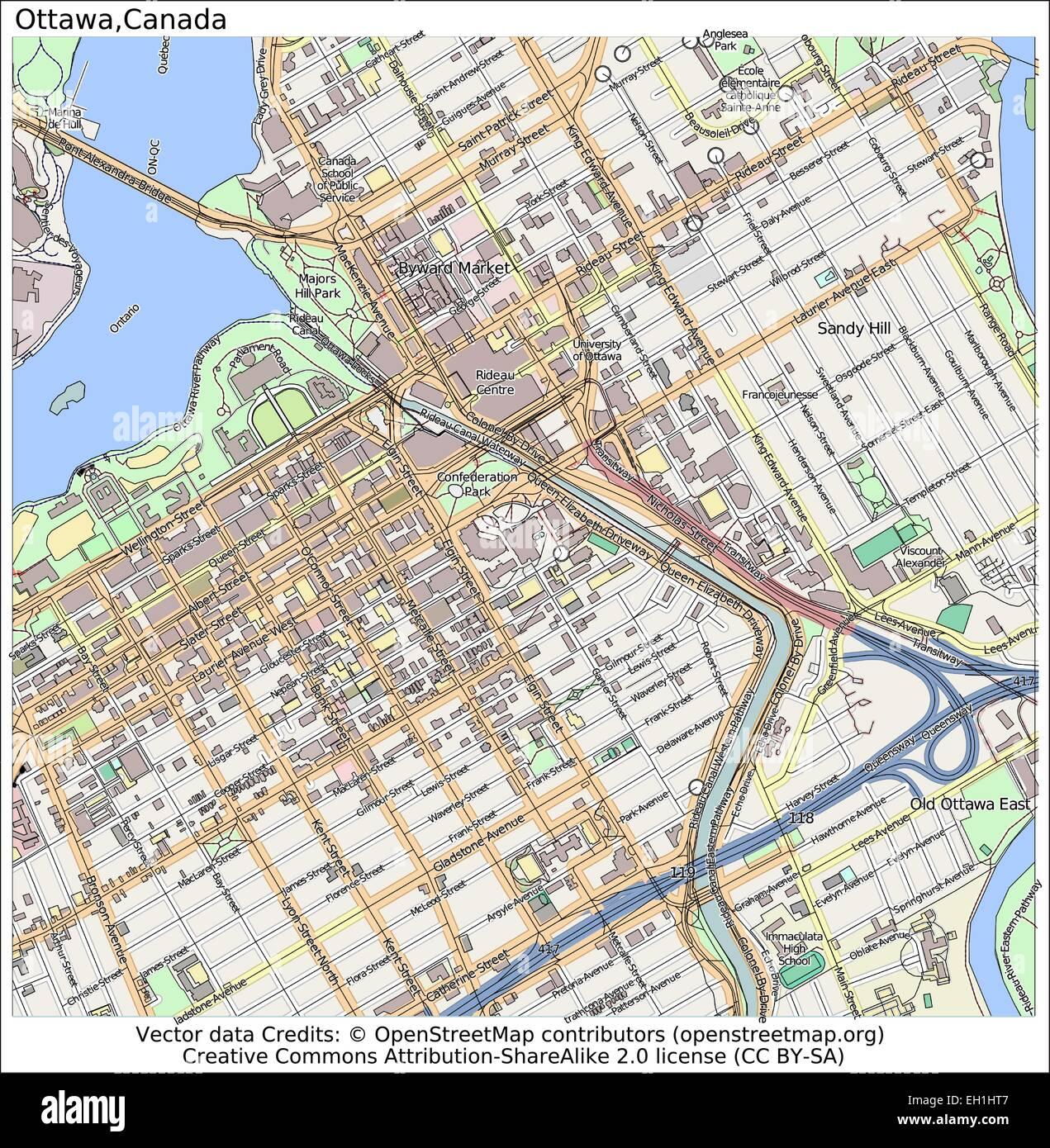 Map Of Ottawa Canada.Ottawa Canada City Map Stock Vector Art Illustration Vector Image