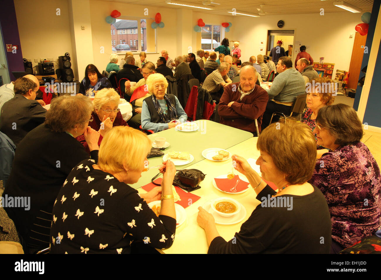Volunteers party at Mysight charity - Stock Image