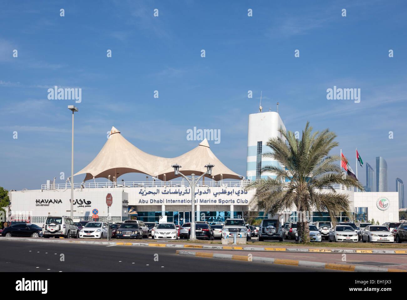 International Marine Sports Club in Abu Dhabi. December 21, 2014 in Abu Dhabi, United Arab Emirates - Stock Image