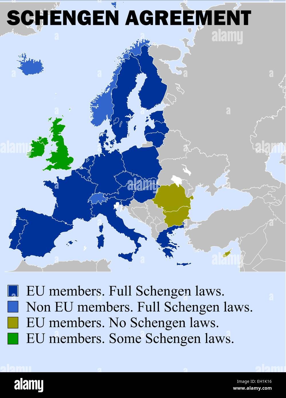 Schengen Agreement Stock Vector Images Alamy