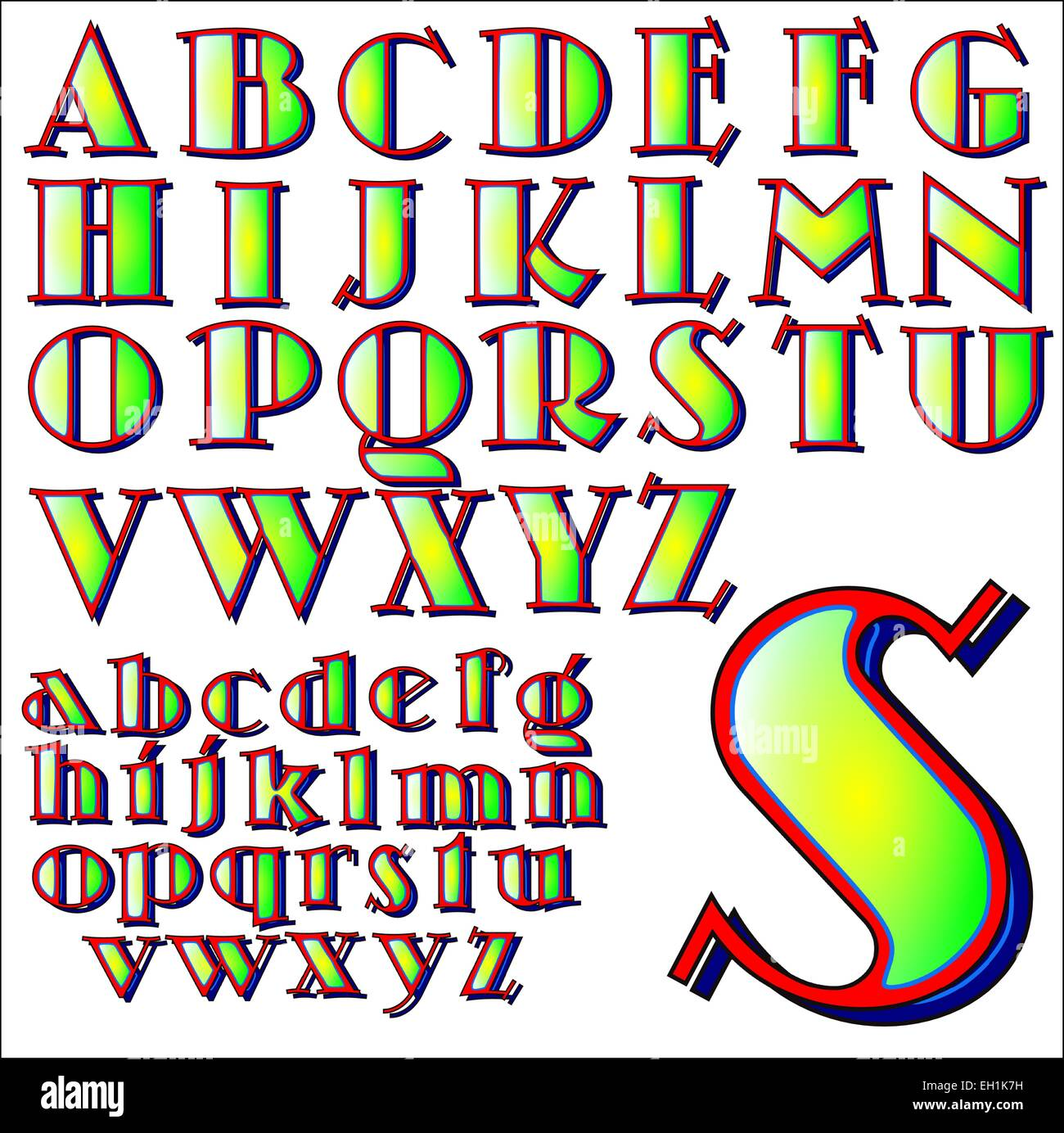 ABC Alphabet Lettering Design Set