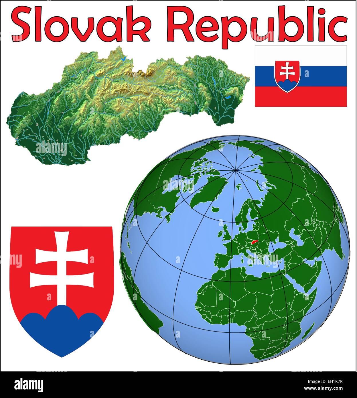 Slovakia Map Stock Photos & Slovakia Map Stock Images - Alamy
