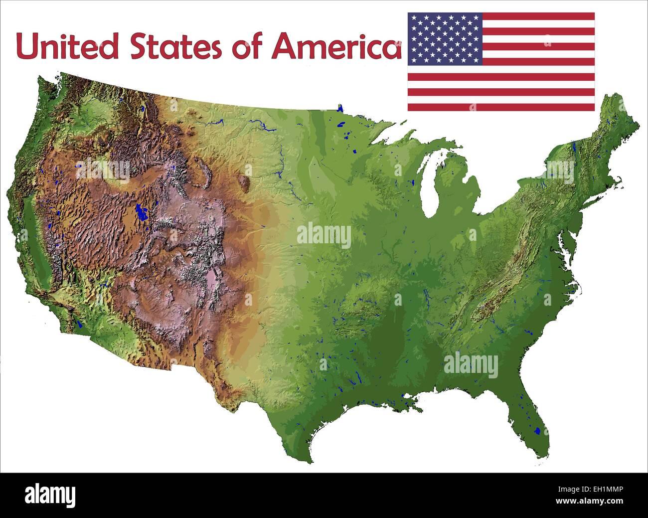United States map flag Stock Vector Art & Illustration, Vector Image ...