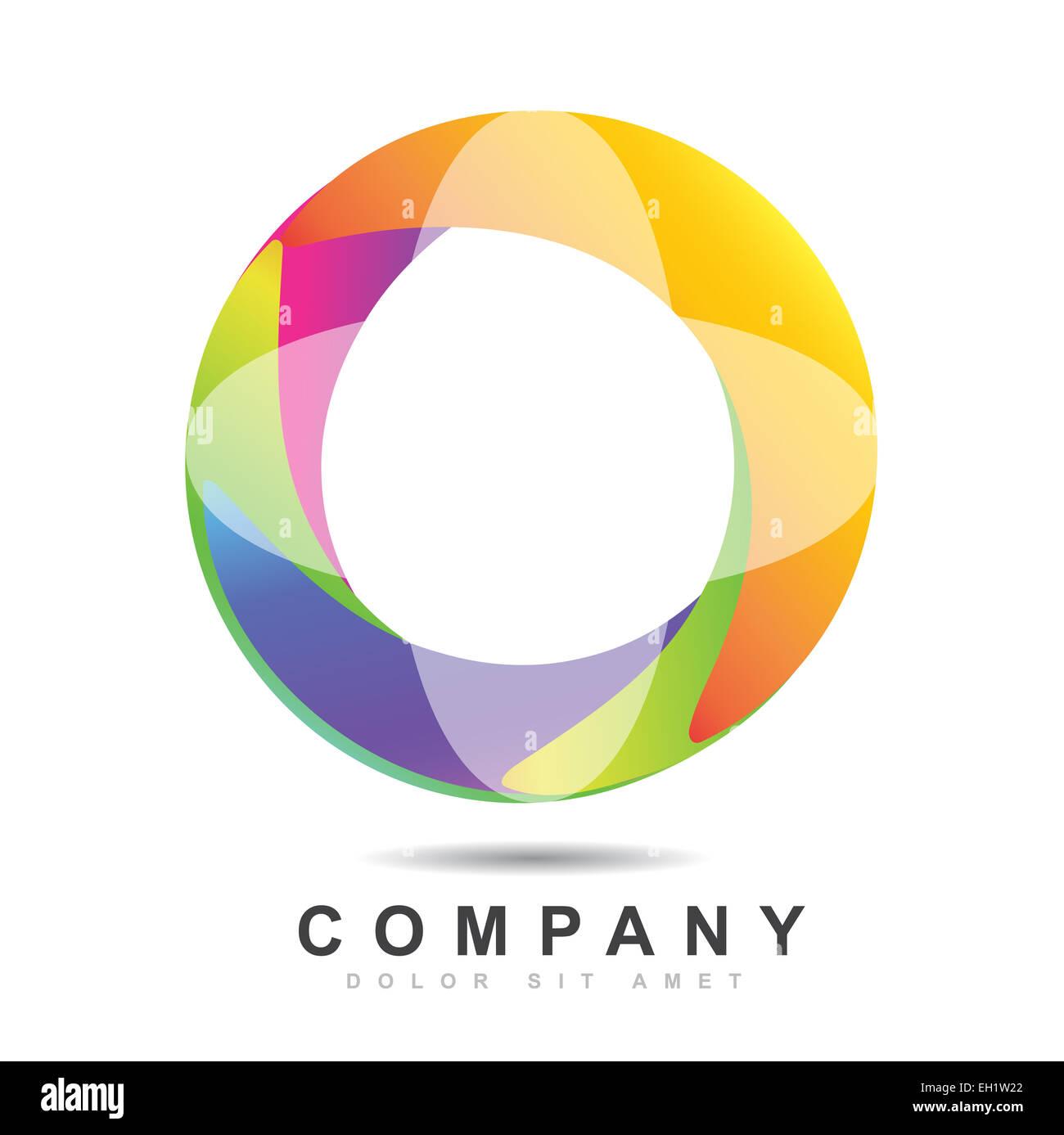 template of a circle logo icon vector 3d stock photo 79332234 alamy