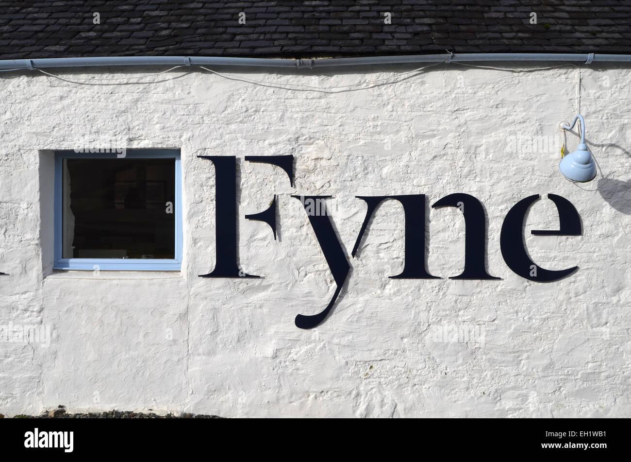 Loch Fyne seafood restaurant, Scotland - Stock Image