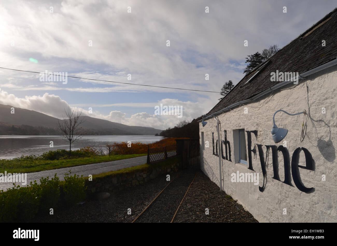 loch fyne; seafood; restaurant; scotland; original; building; fish - Stock Image
