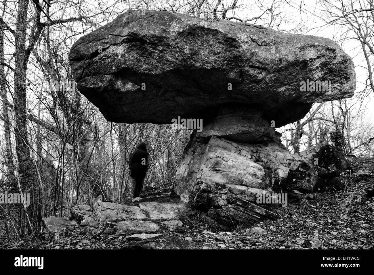 Big erratic rock - Stock Image