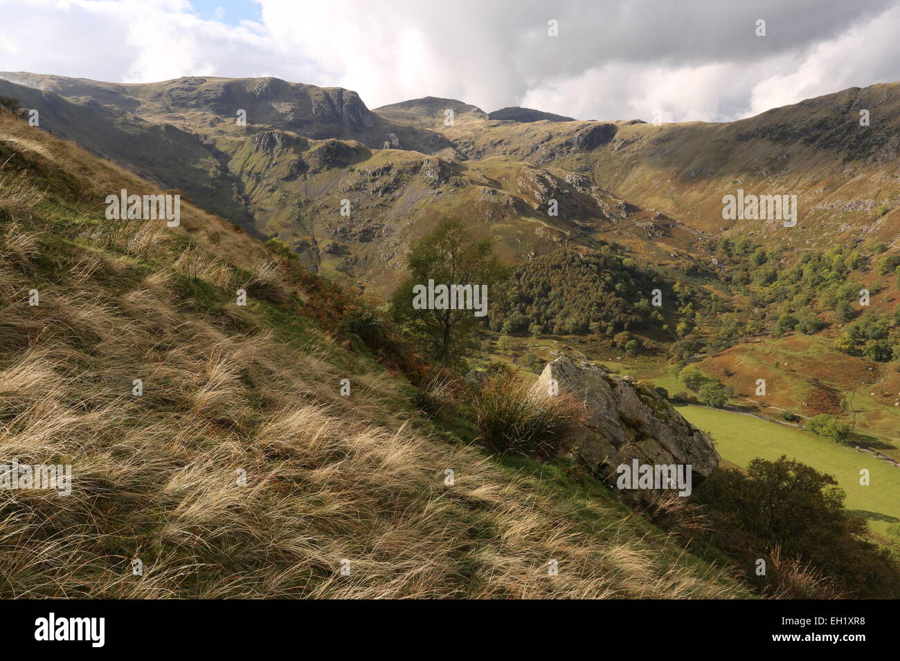 Dove Crag and Fairfield from Middle Dodd - Stock Image