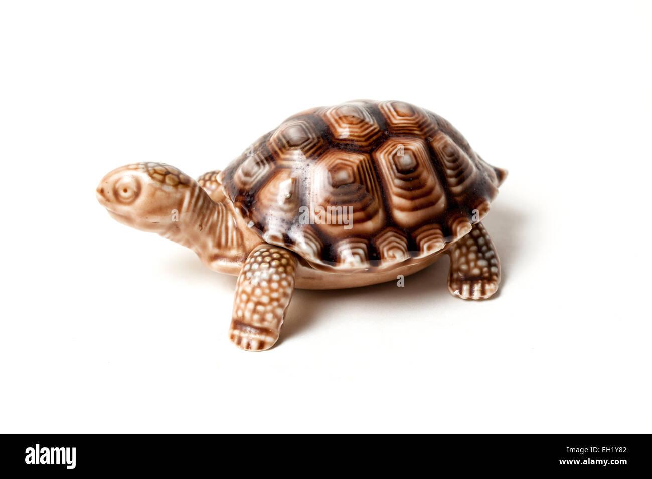 Wade pottery tortoise trinket holder. - Stock Image
