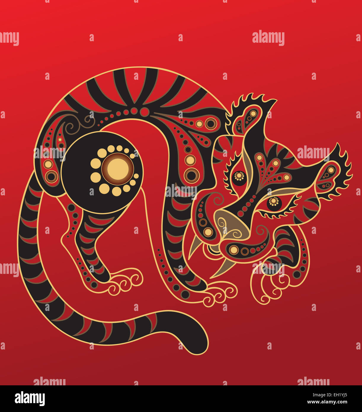 Chinese horoscope. Year of the tiger - Stock Image