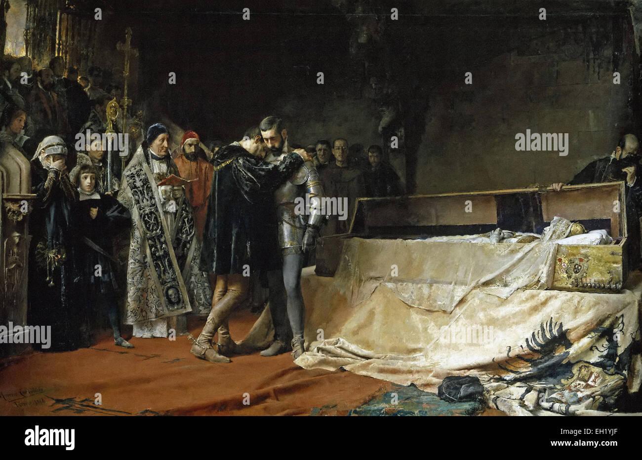 José Moreno Carbonero  The Conversion of the Duke of Gandia - Stock Image