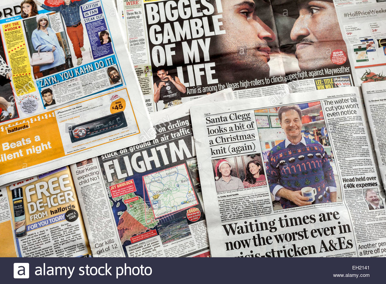 Newspaper pages - Stock Image