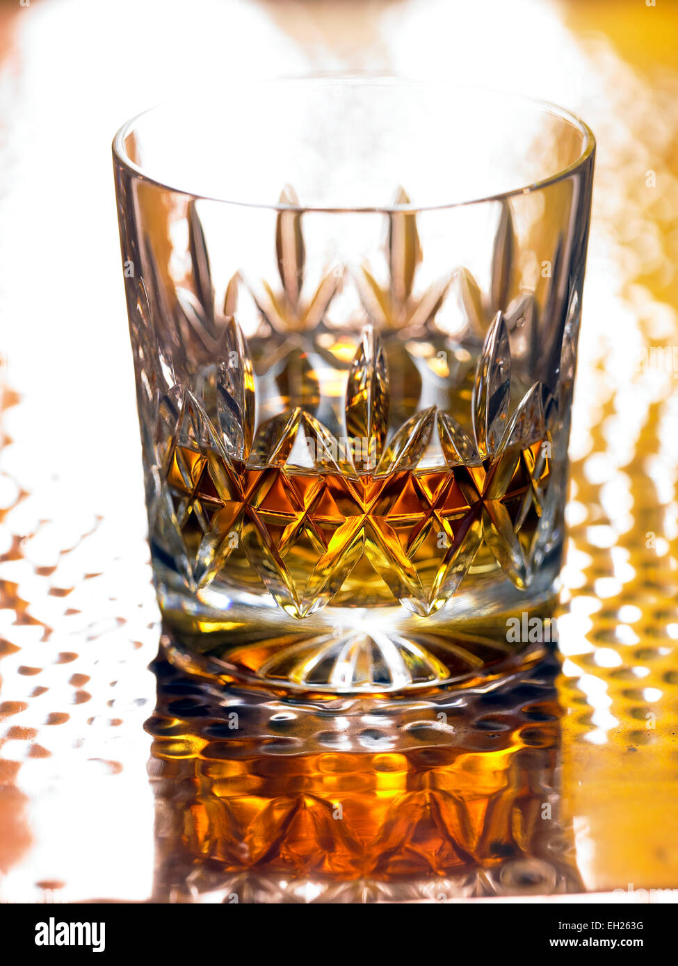 whisky in glass - Stock Image