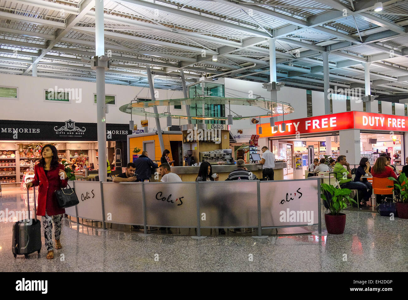 Albania, Tirana, italian bar in the airport - Stock Image