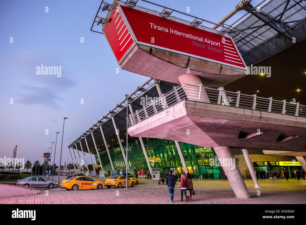 Albania, Tirana, the airport - Stock Image