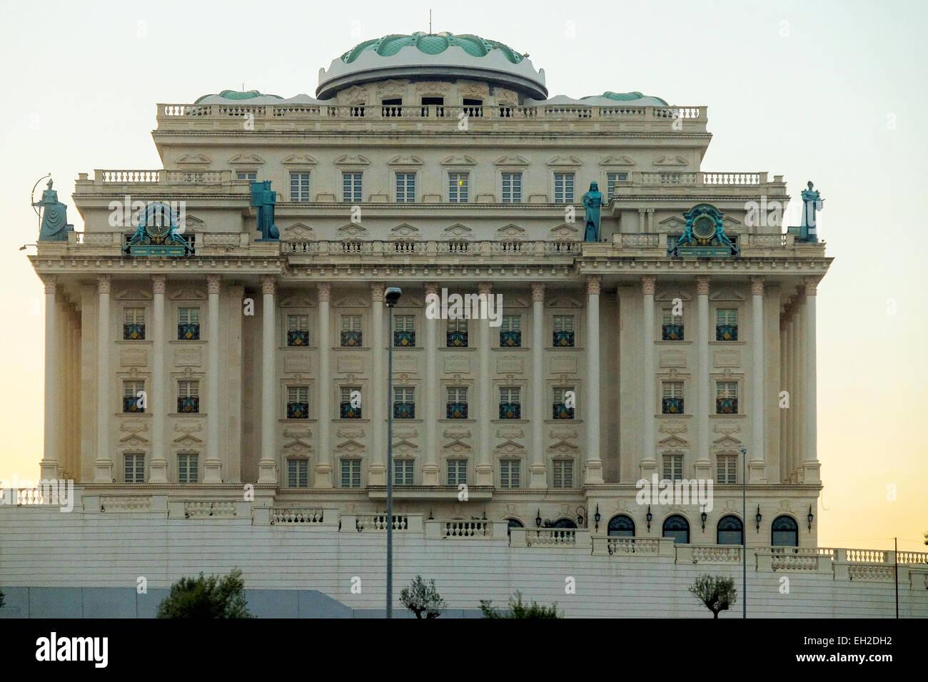 Albania, Tirana, a casino under construction near the airport - Stock Image