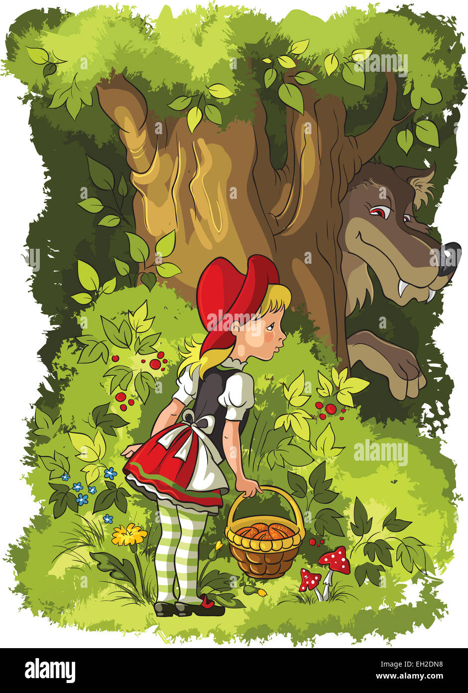 little red riding hood and wolf fairy tale of charles