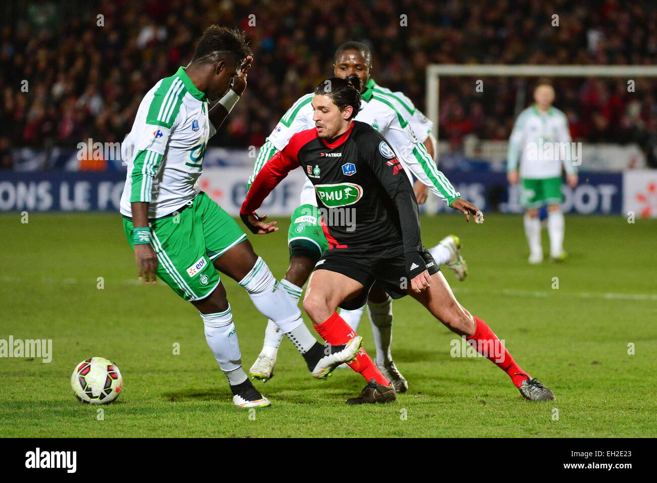 Elohim ROLLAND/Moustapha SALL - 03.03.2015 - Boulogne/Saint Etienne - 1/4Finale Coupe de France.Photo : Dave Winter/Icon - Stock Image