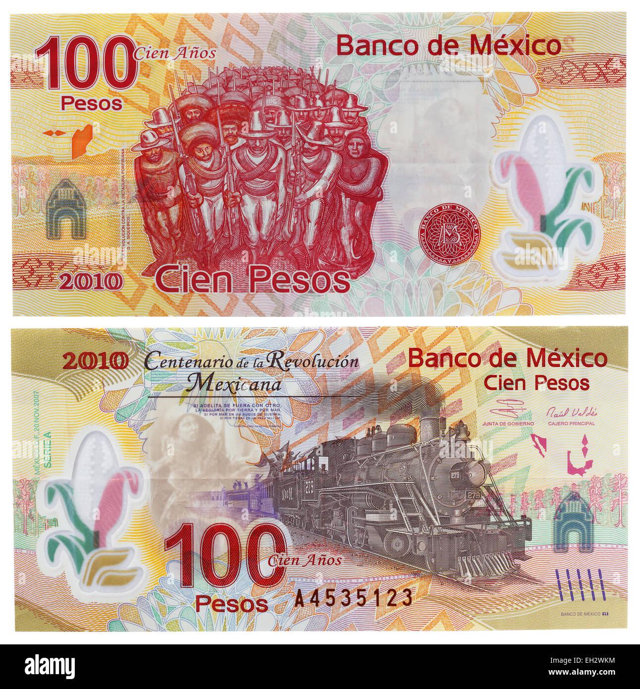 100 pesos banknote, Mexico, 2007 - Stock Image