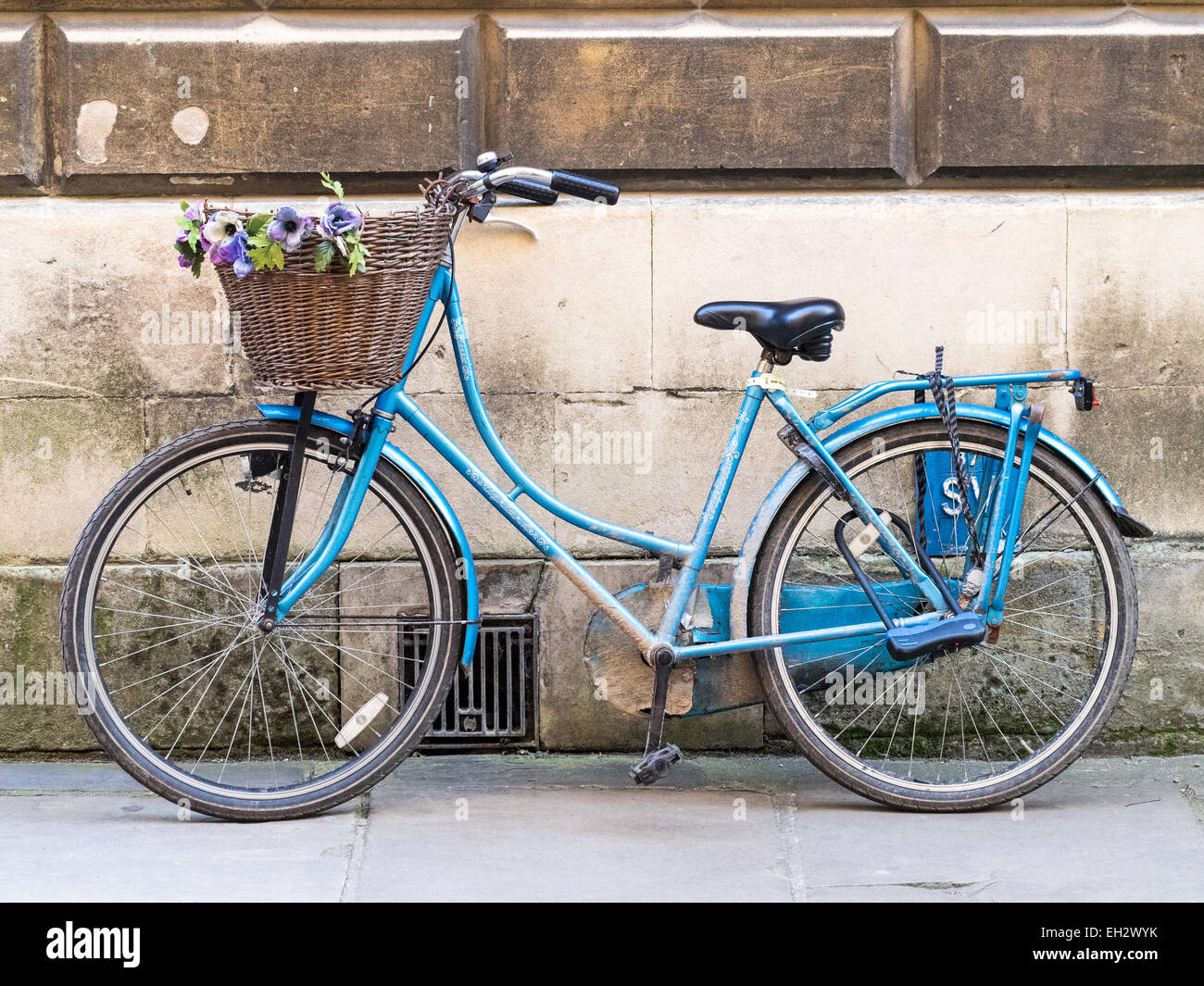 Prettified Student Bike at the University of Cambridge - Stock Image