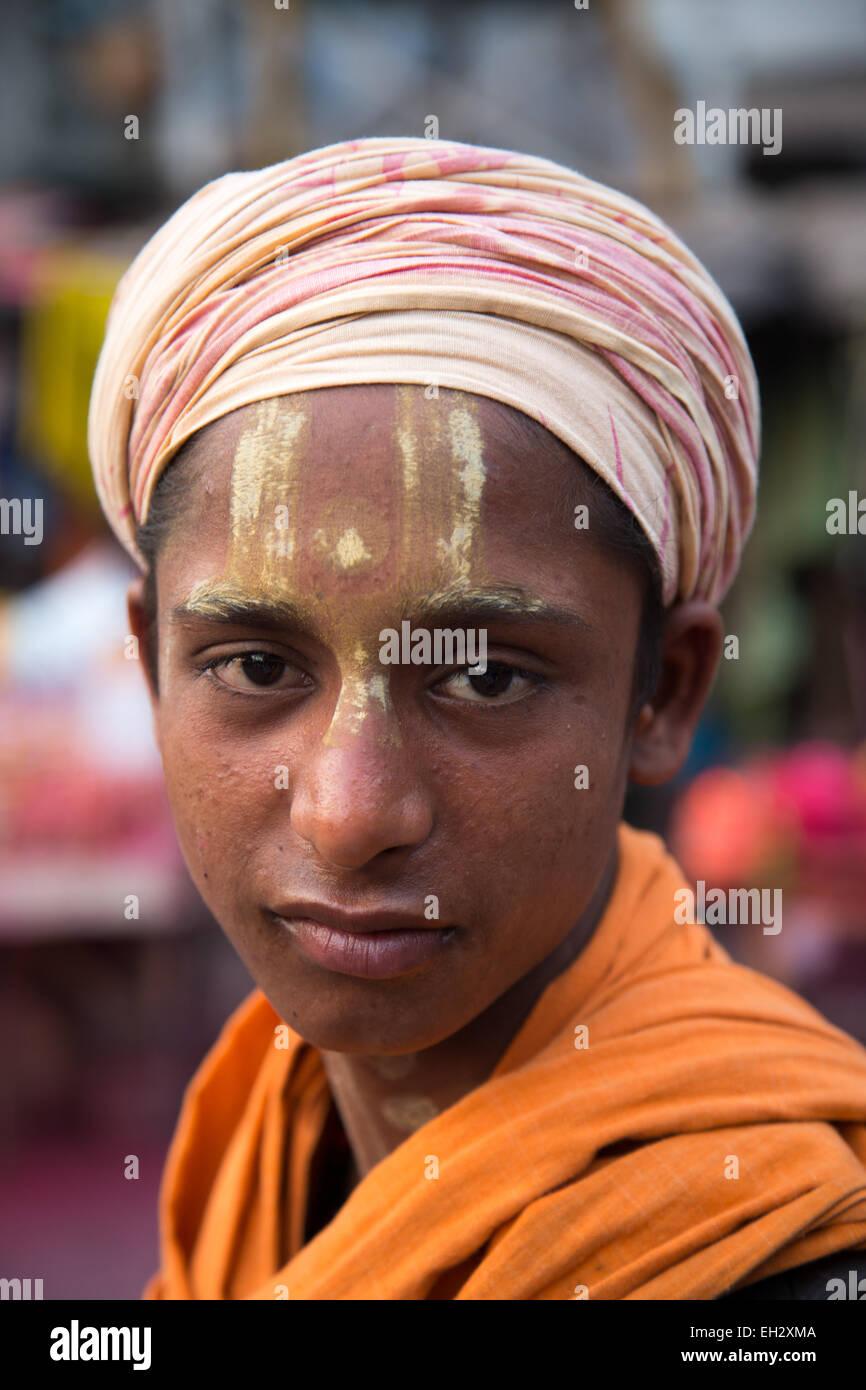 Hindu Sadhu Kali Temple - Stock Image