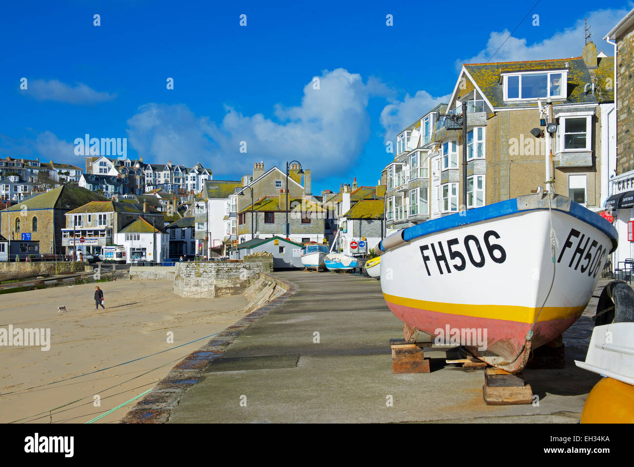 The harbour and quay, St Ives, Cornwall, England UK - Stock Image