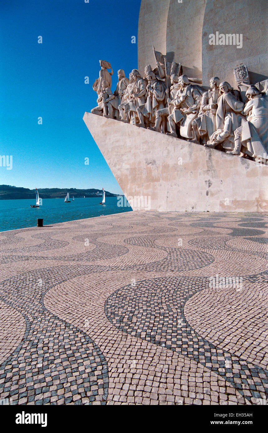 Portugal, Lisbon, the Monument to the Discoveries. - Stock Image