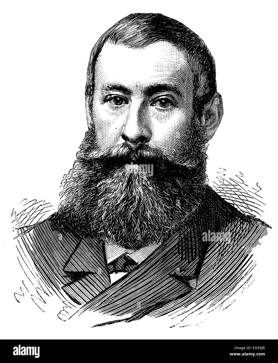 Daniel Wilson, 1840-1919, French politician, woodcut, historical engraving, 1880 - Stock Image