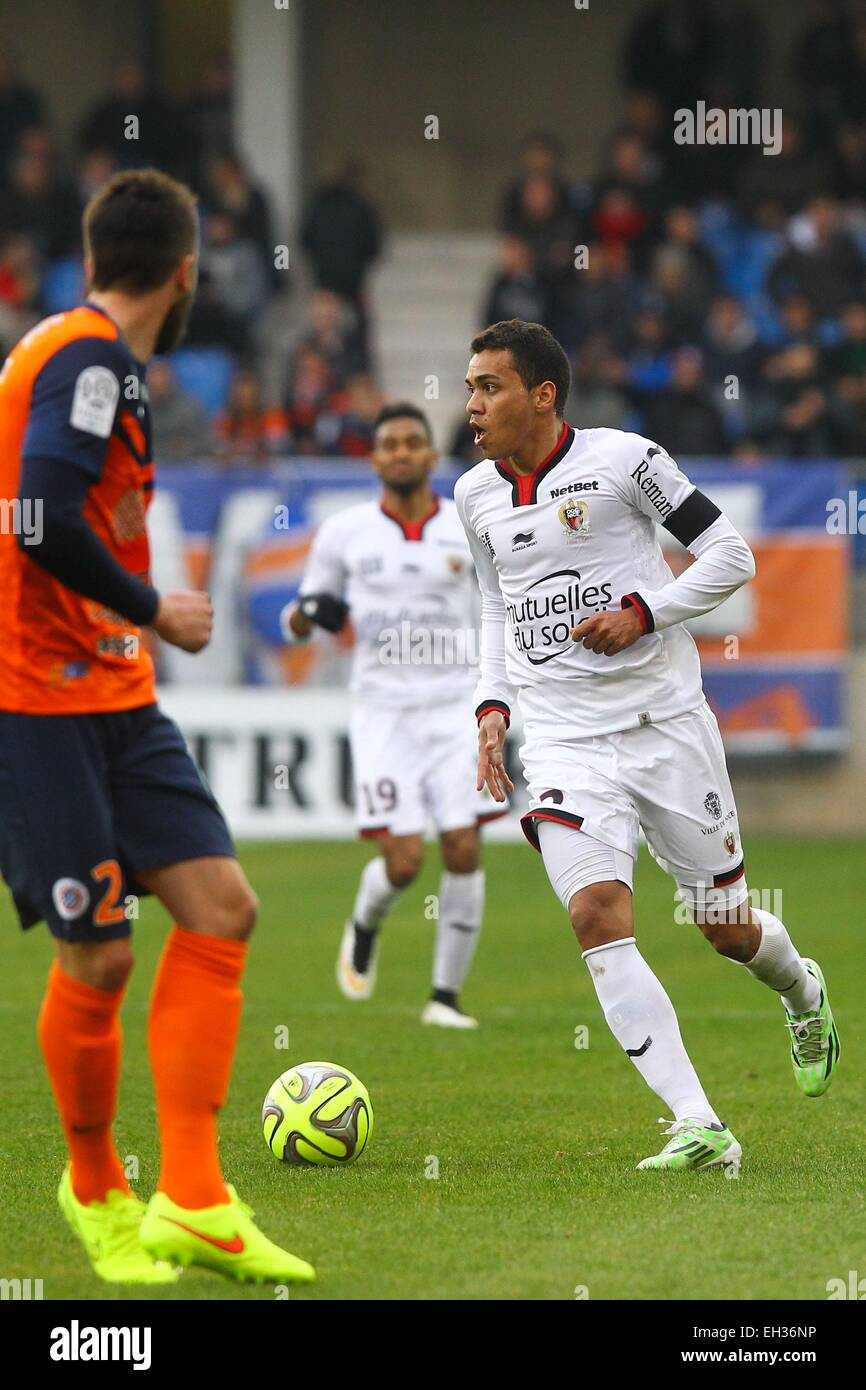 Carlos De Olivera - 01.03.2015 - Montpellier/Nice - 27eme journee de Ligue 1 -.Photo : Andre Delon/Icon Sport - Stock Image