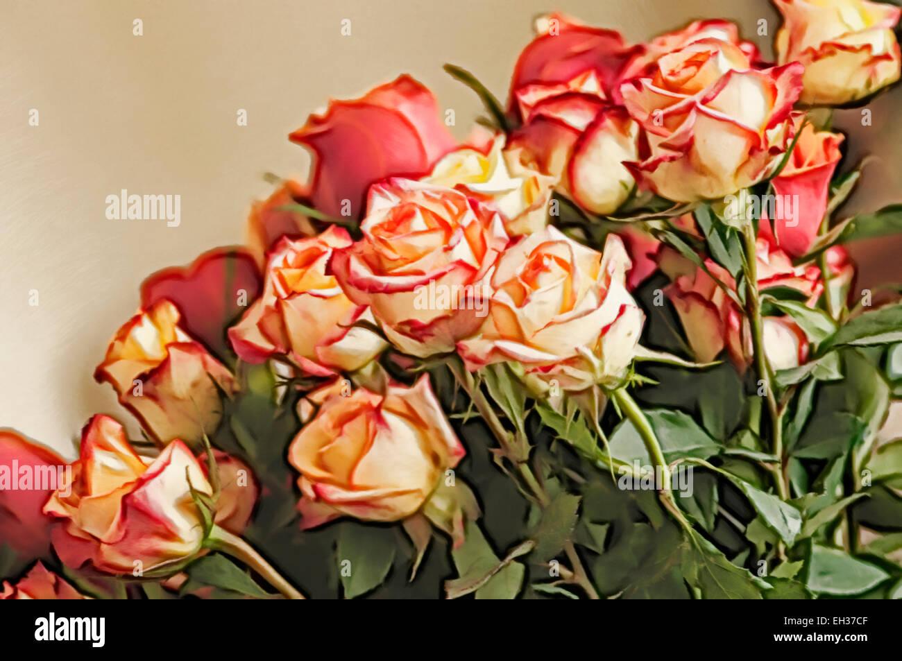 Winter rose flower bouquet Stock Photo: 79362319 - Alamy
