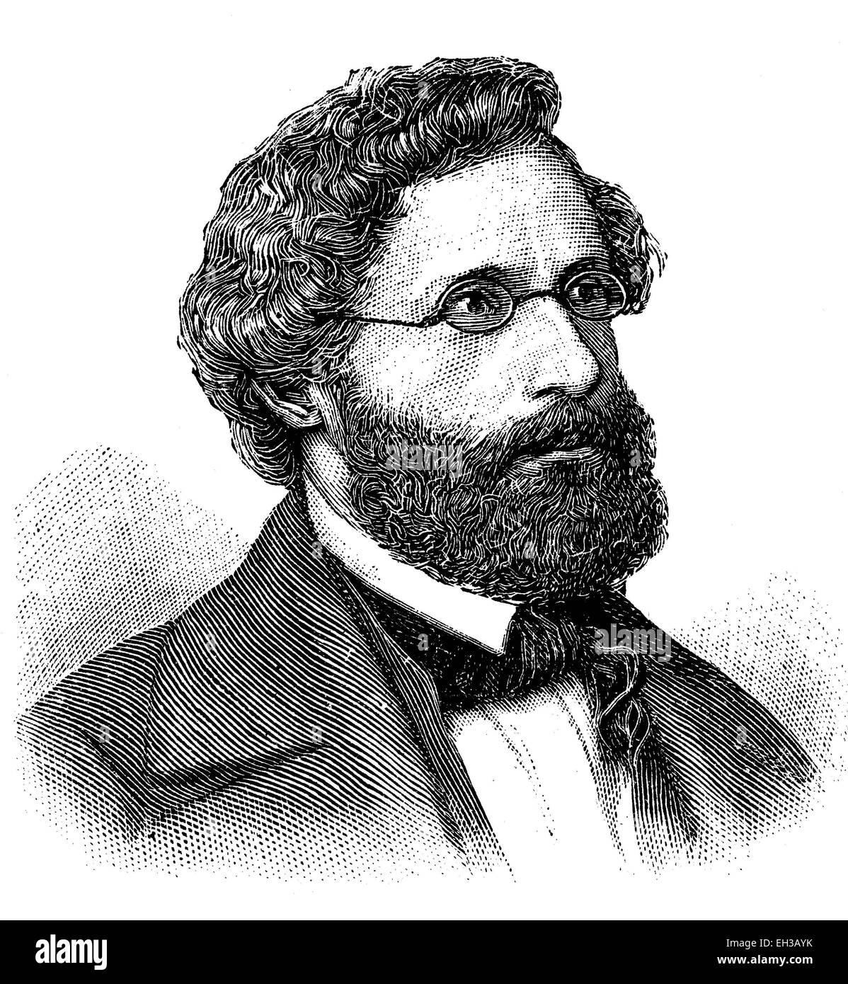 Friedrich Siegmund Jucho (1805-1884 ) war ein deutscher Jurist, Notar und Politiker. 1848 war er als Abgeordneter - Stock Image