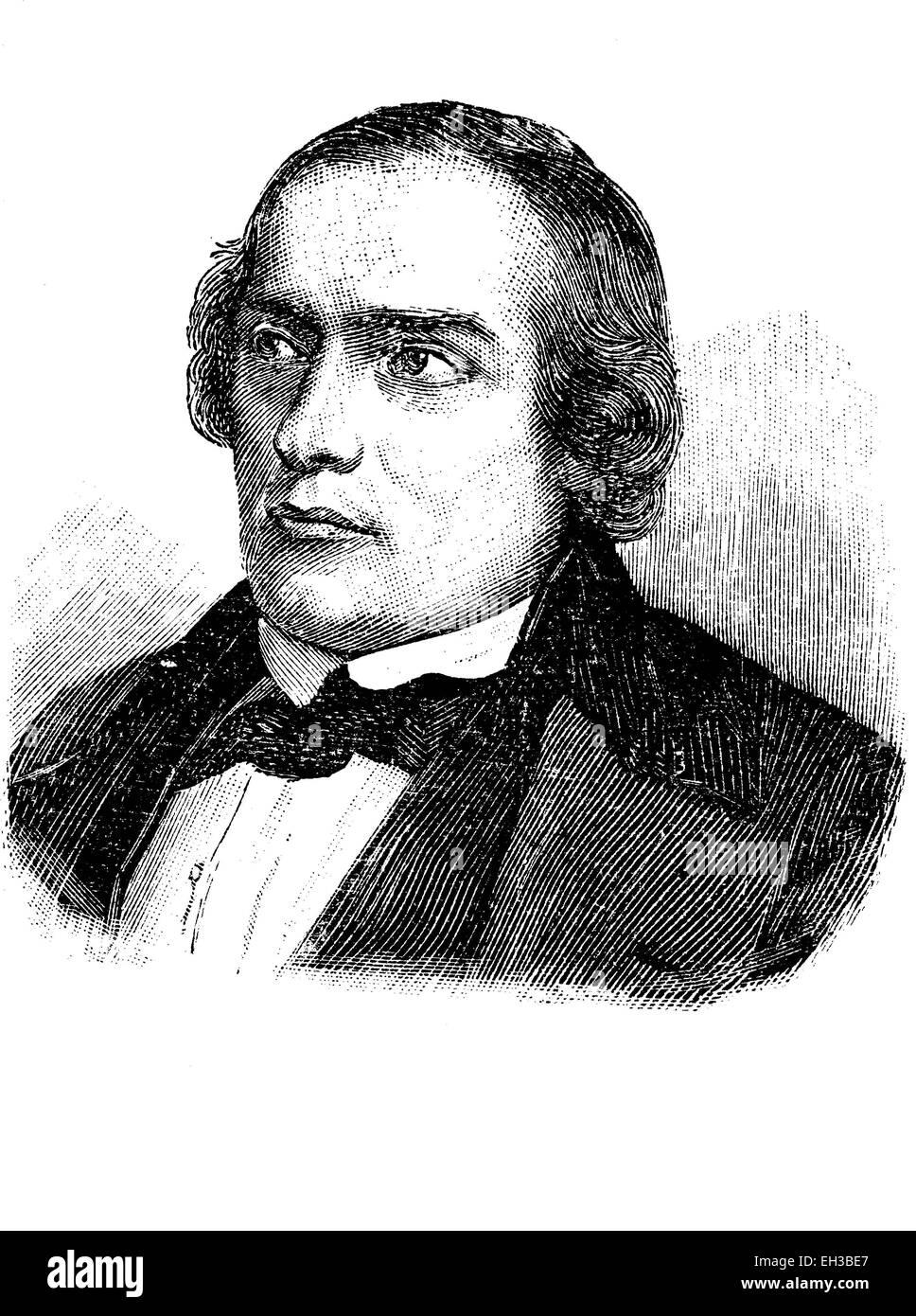Wilhelm Eberhard Oskar Freiherr von Wydenbrugk, 1815 - 1876, a German liberal politician, Maerz-minister in Saxe - Stock Image