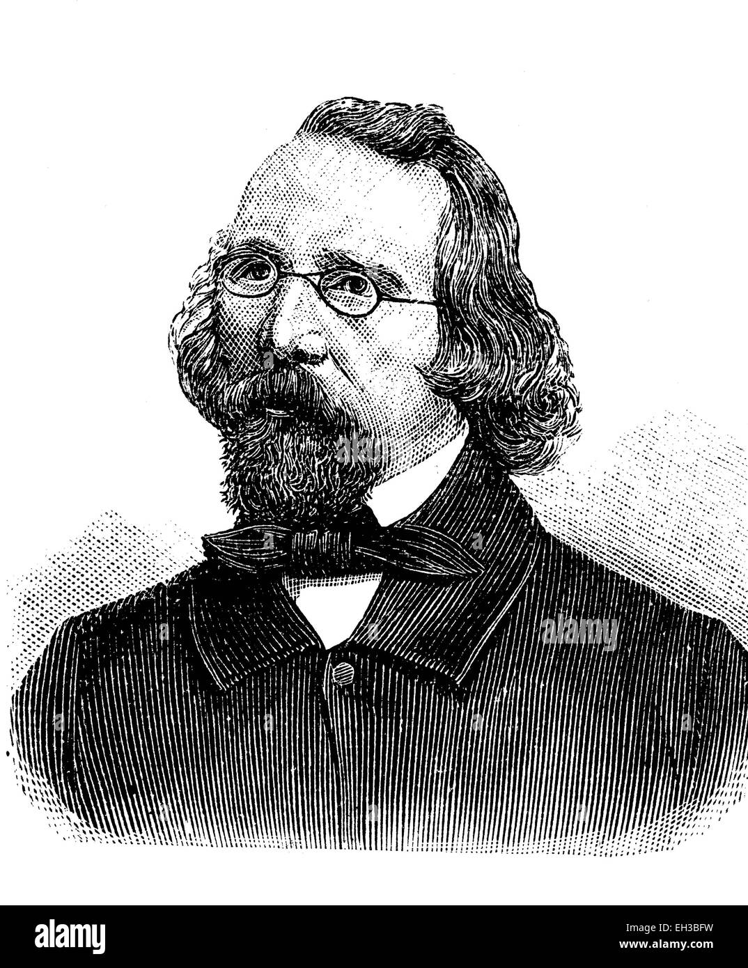 Jacob Venedey, 1805 - 1871, a German journalist and politician, wood engraving, about 1880 - Stock Image