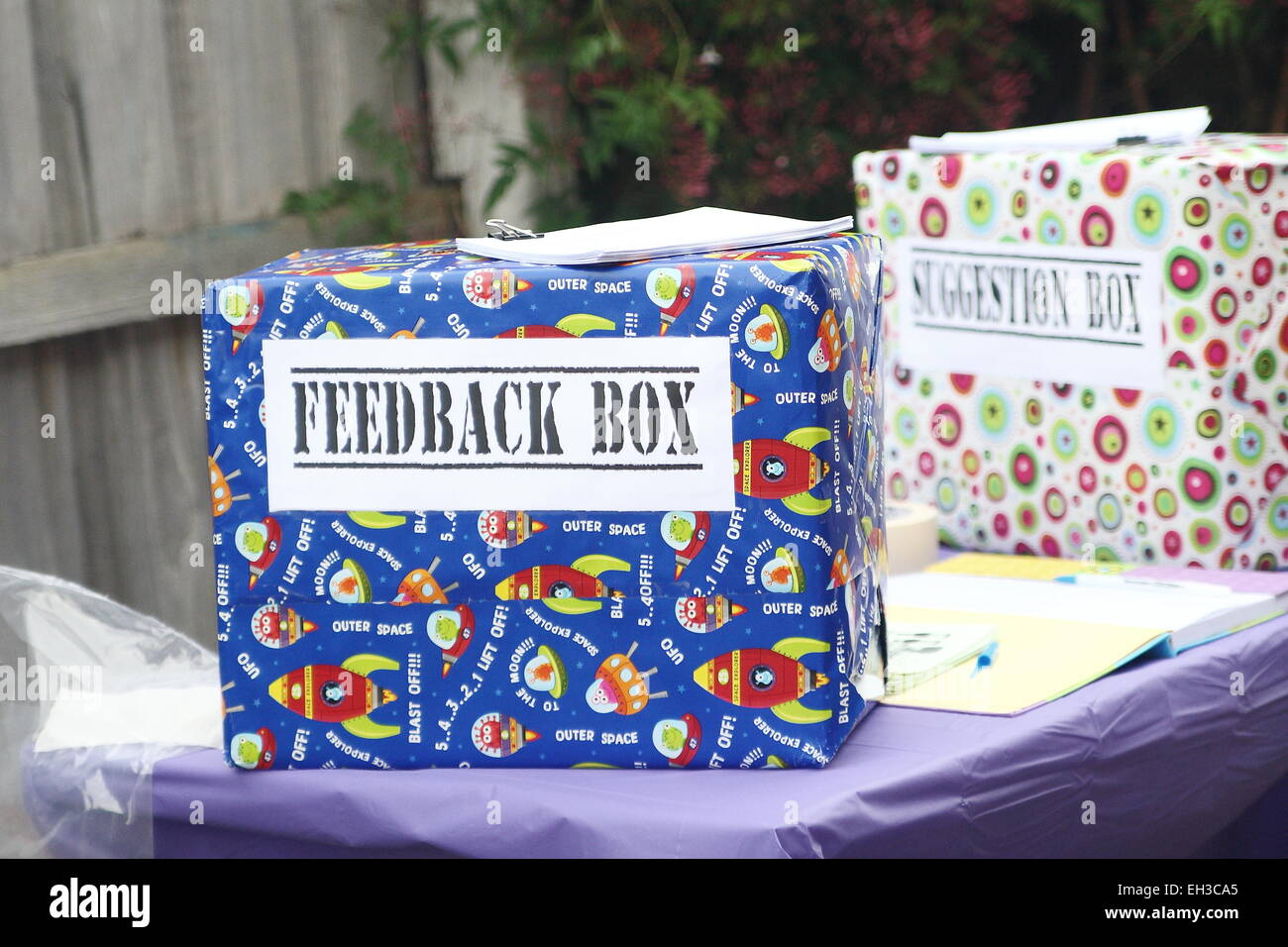 Feedback and Suggestion box - Stock Image
