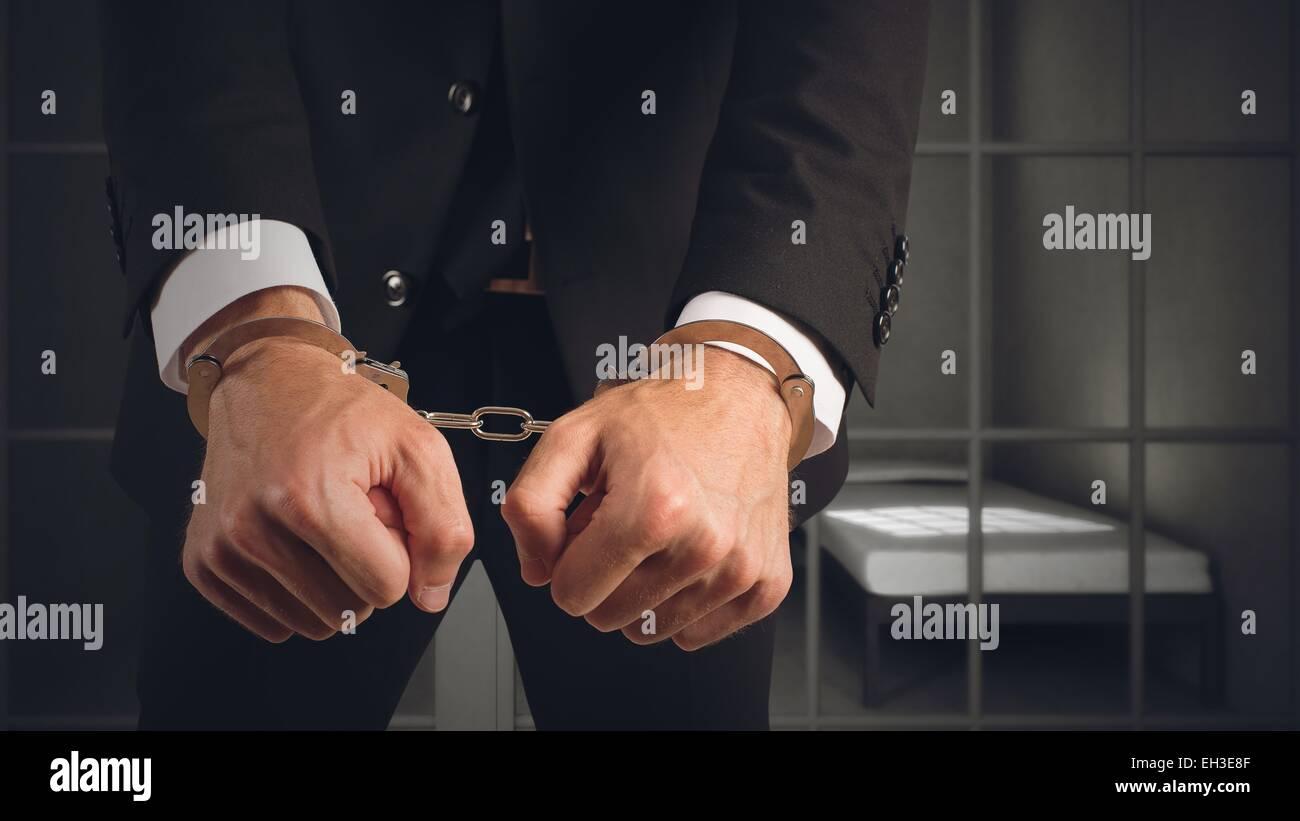 Businessman arrested - Stock Image