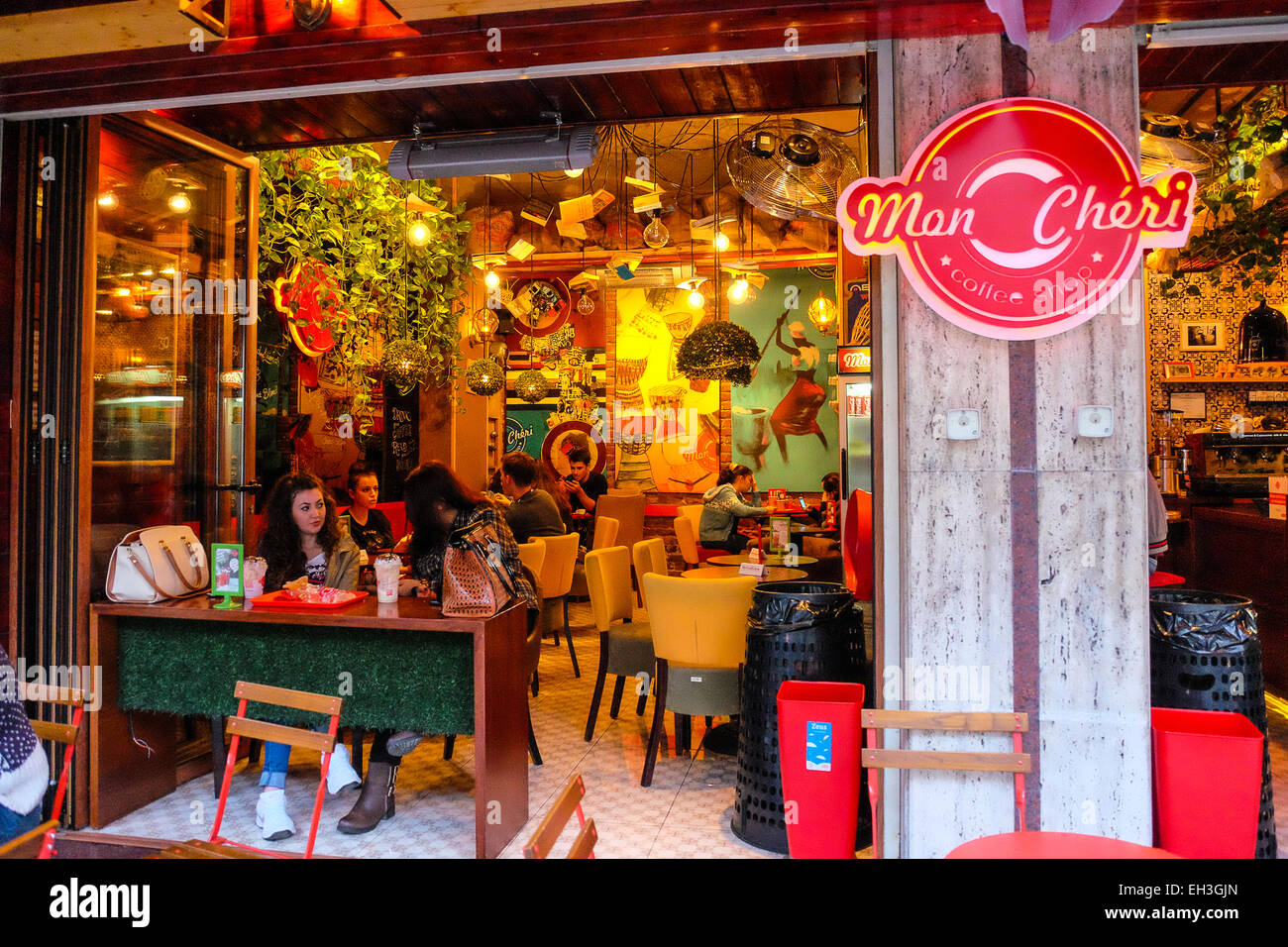 Albania, Tirana, local restaurant - Stock Image