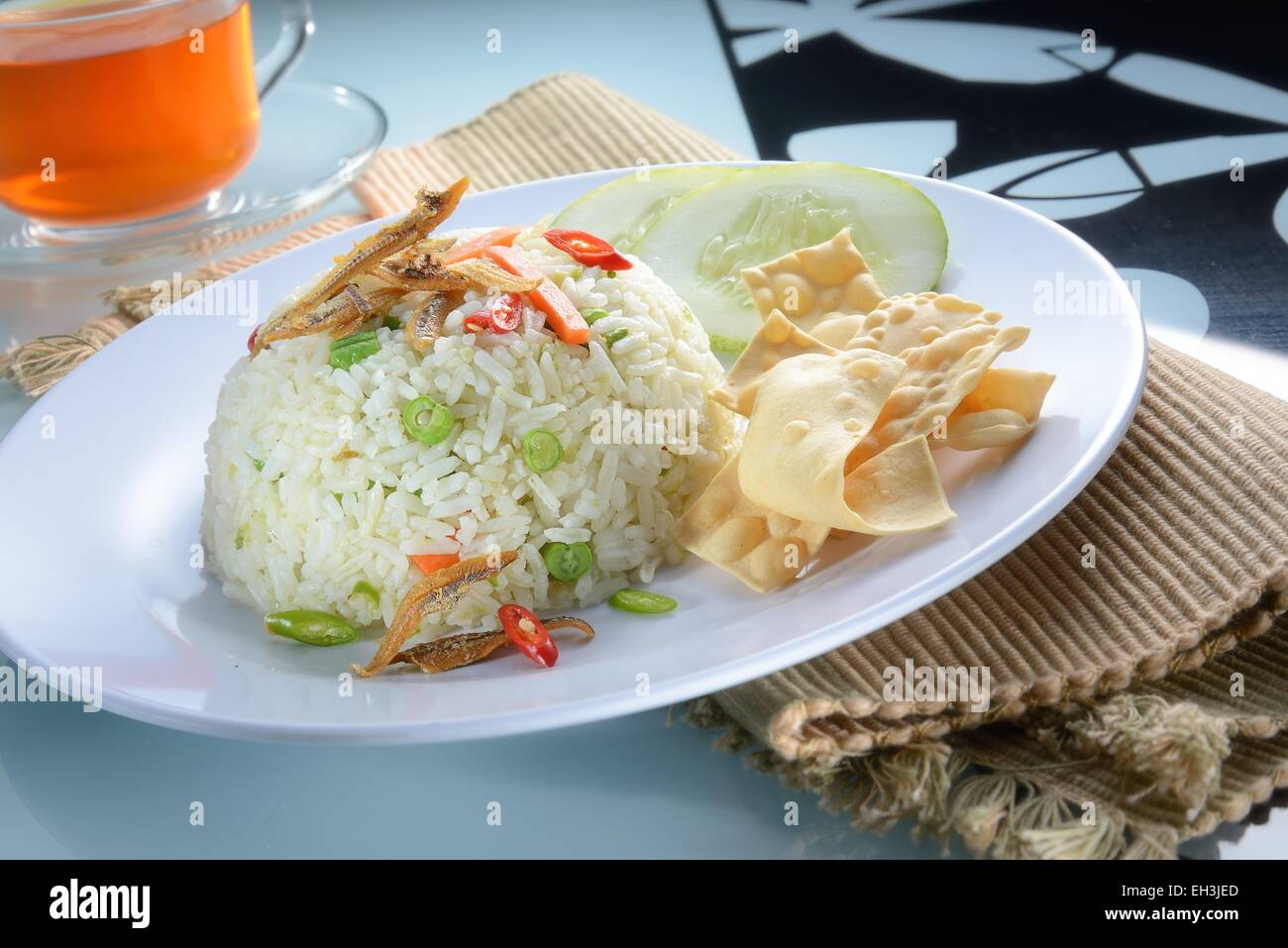 Malay fried rice with nice table setting : nice table settings - pezcame.com