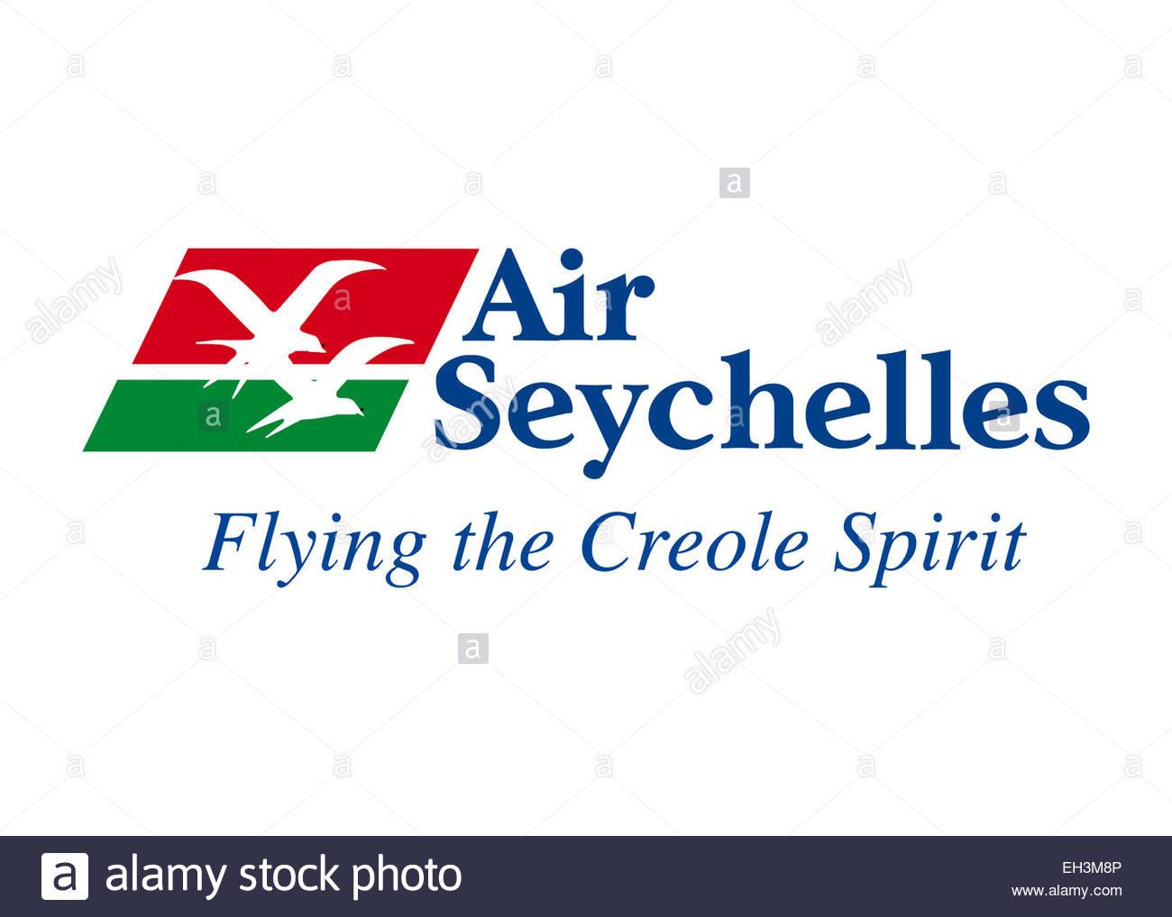 Air Seychelles logo icon flag symbol emblem - Stock Image