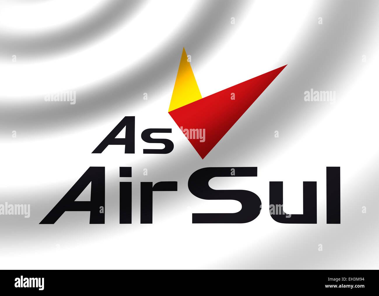 Air Sul logo icon symbol flag emblem Stock Photo