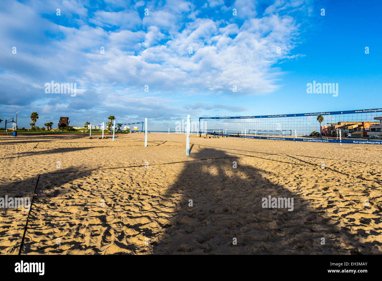 South Mission Beach Volleyball Courts On A Cloudy Winter Morning San Stock Photo Alamy