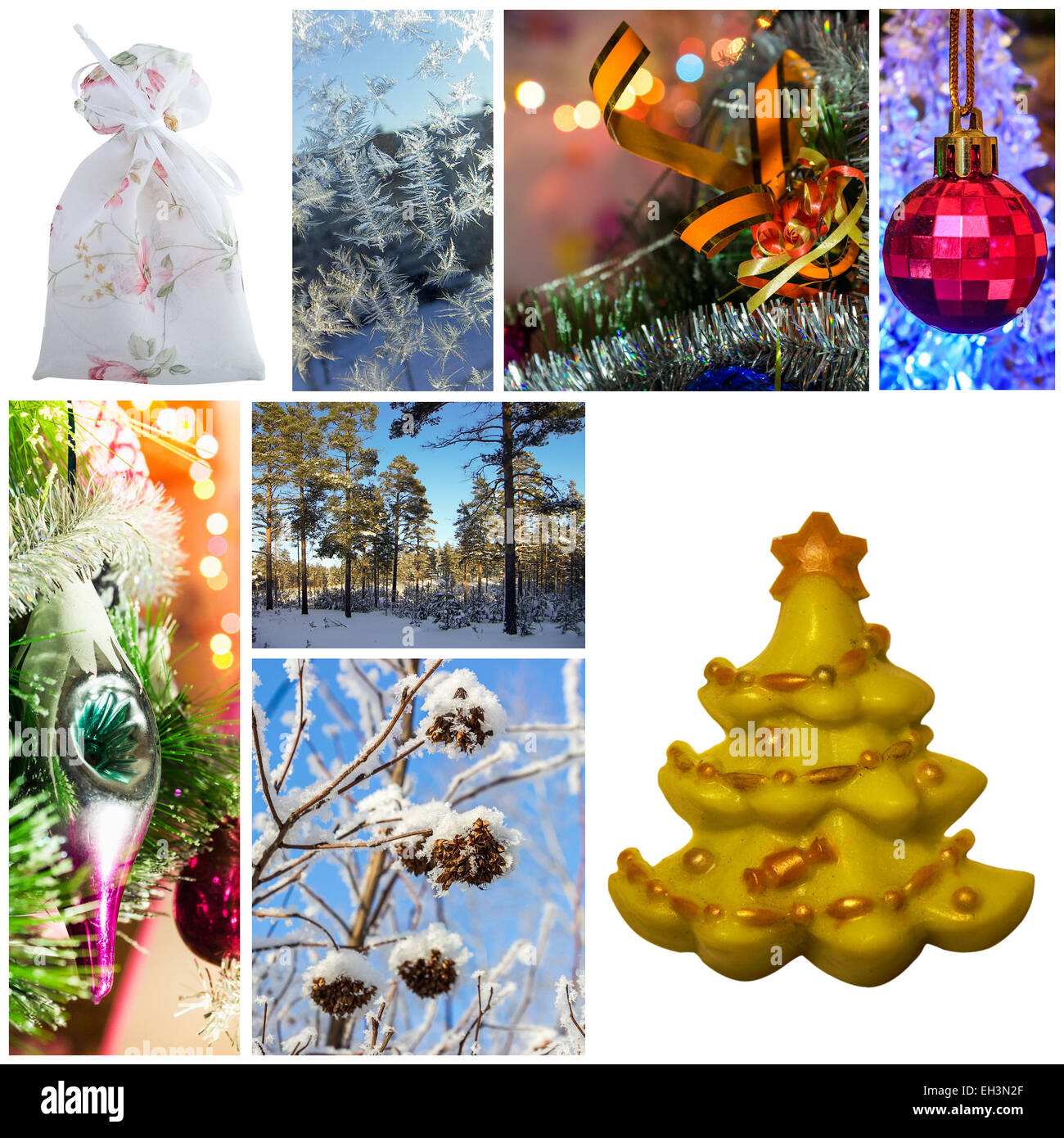 collage new year stock image