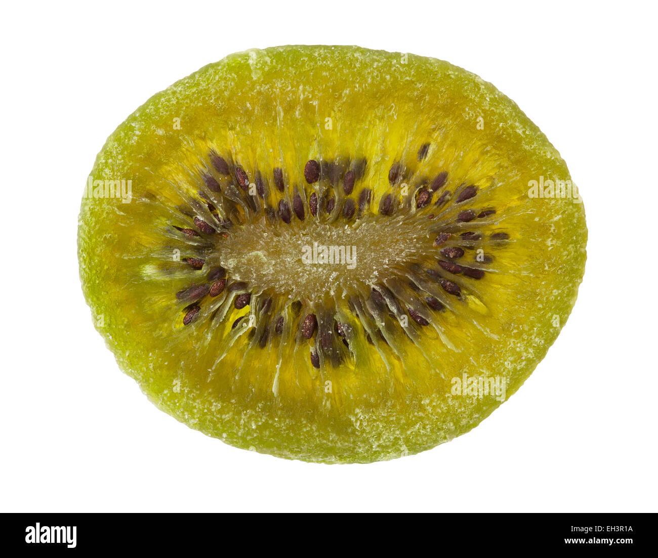 dried kiwi isolated - Stock Image