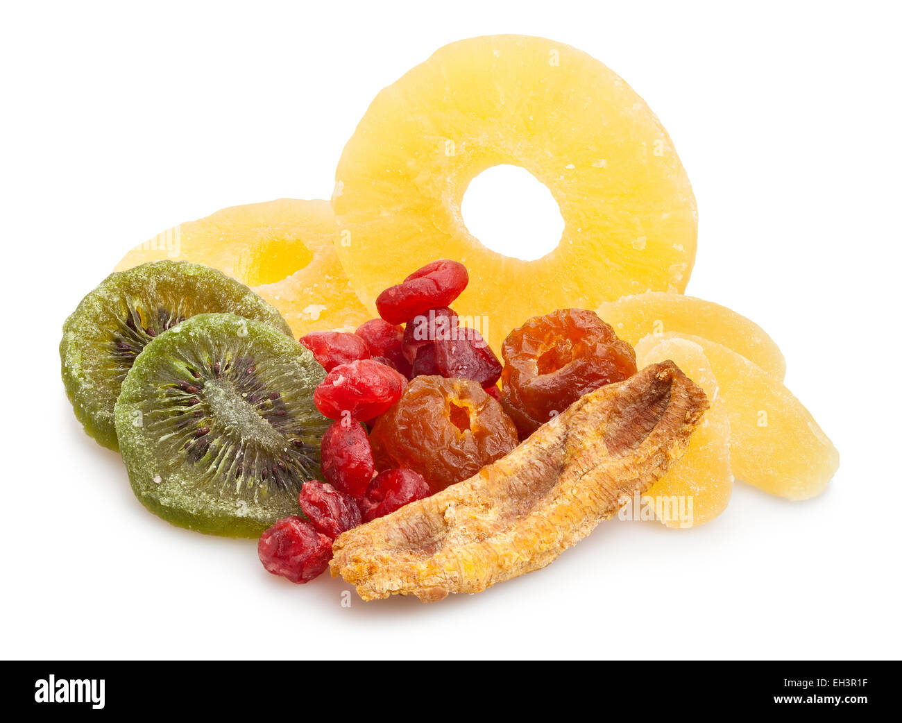 dried fruits isolated - Stock Image