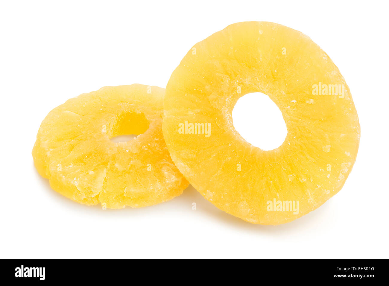 dried pineapple isolated - Stock Image