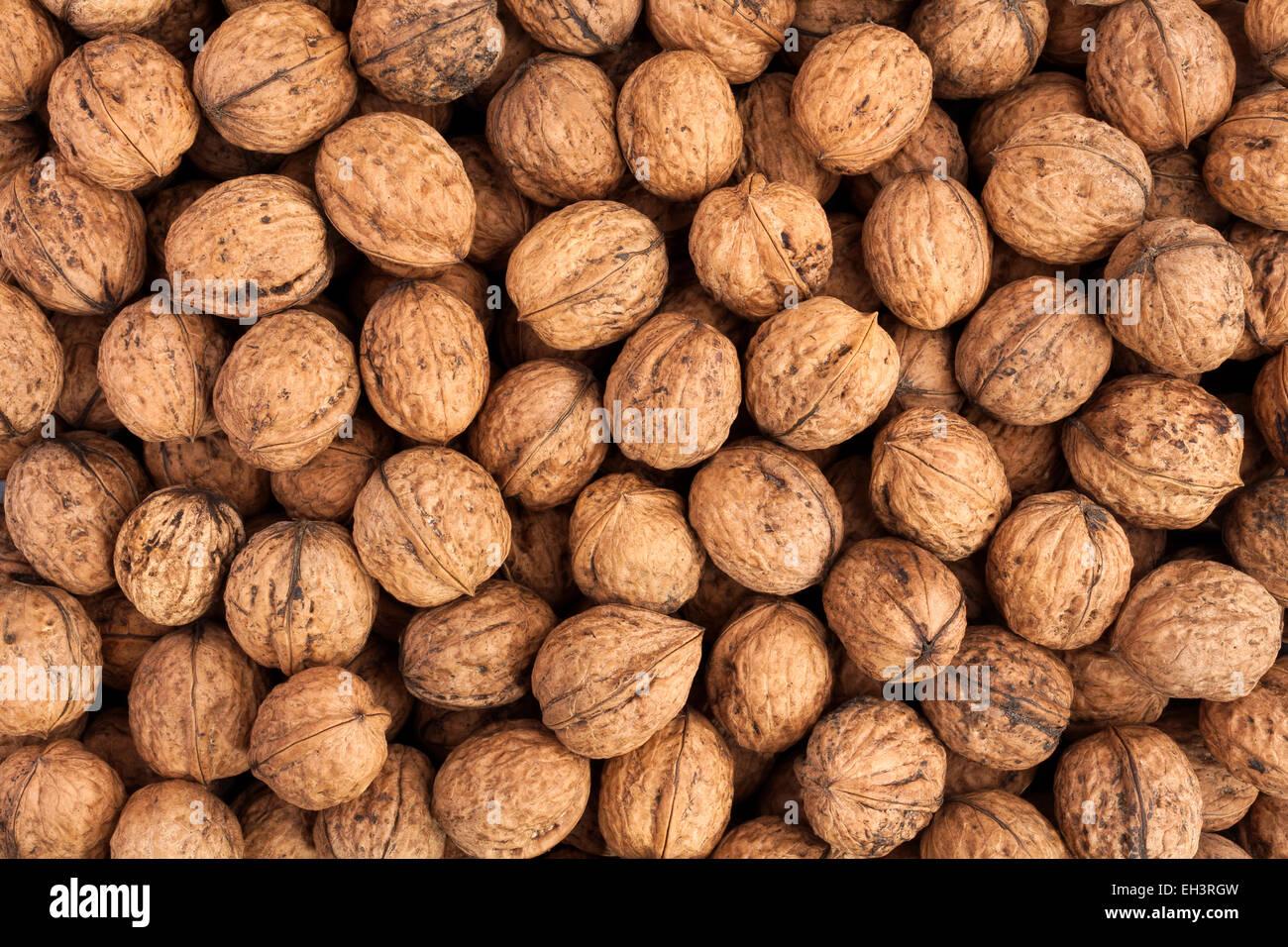 walnuts texture - Stock Image