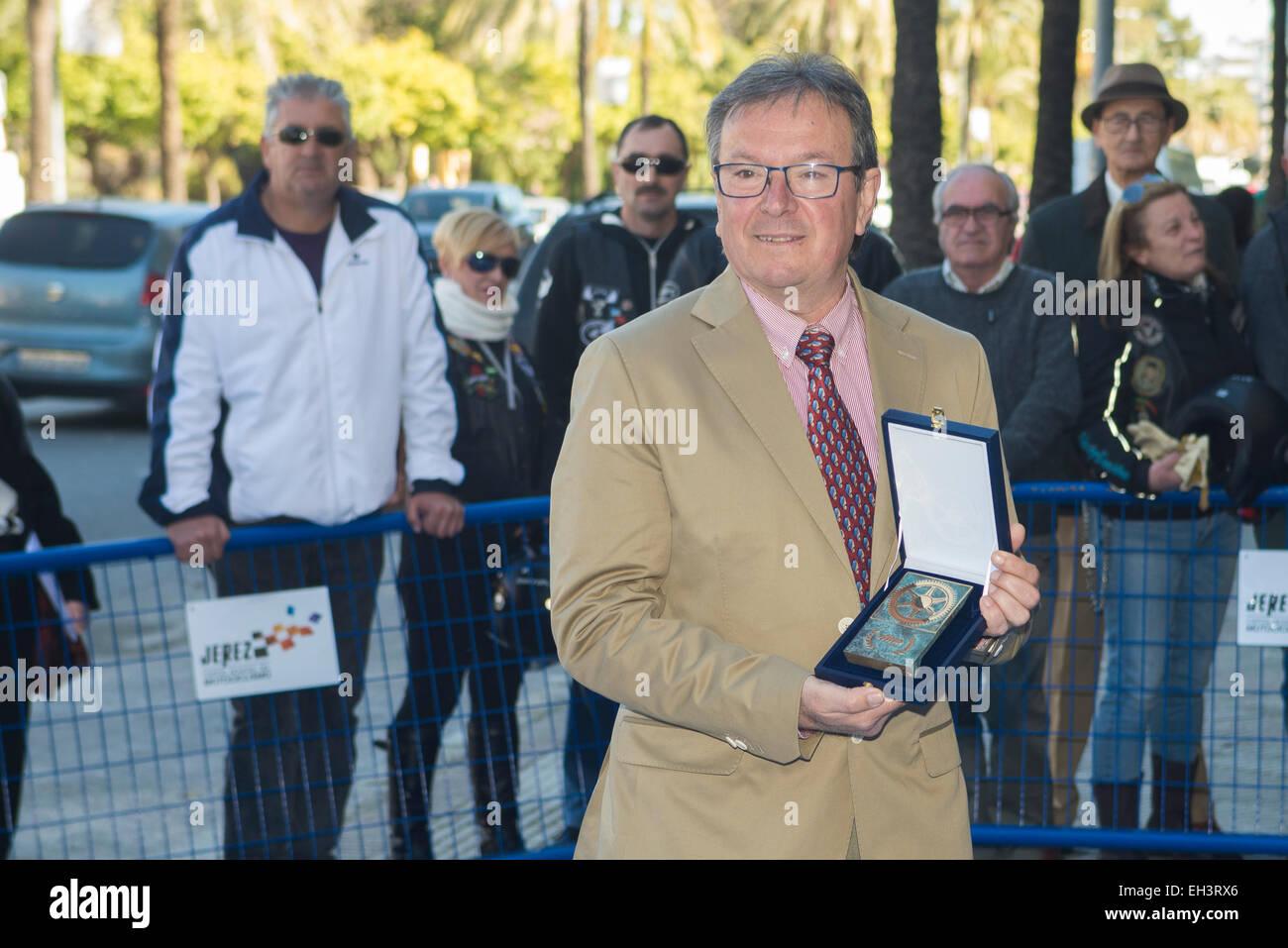 Jerez de la Frontera, Andalusia, Spain, 06 March, 2015: Ángel Viladoms, President of Real Federación Española de Stock Photo