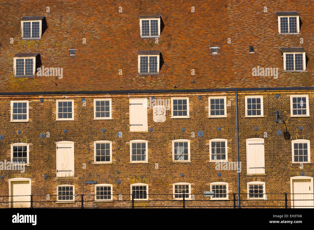 The Three Mills Tidal mills on the river Lea east London near Stratford. - Stock Image