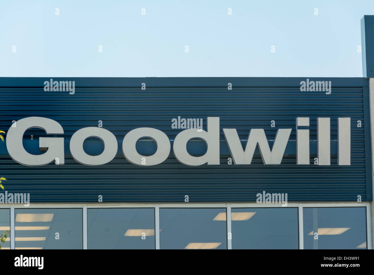 Goodwill store sign - Stock Image
